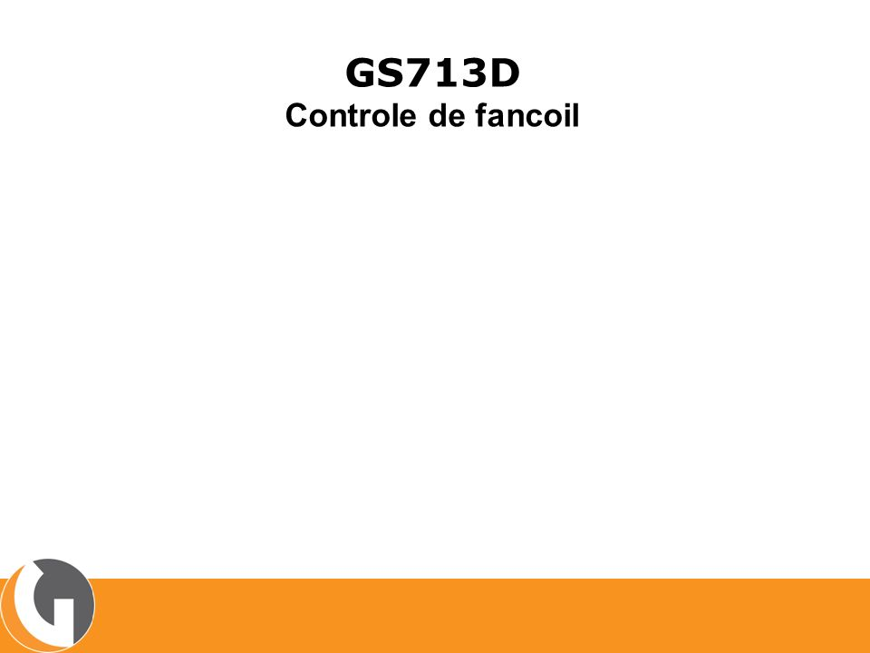 GS713D Controle de fancoil