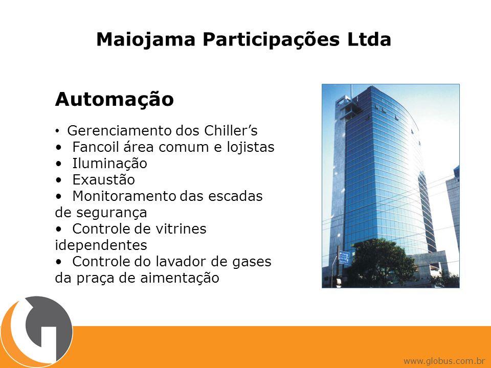 Automação Gerenciamento dos Chillers Fancoil área comum e lojistas Iluminação Exaustão Monitoramento das escadas de segurança Controle de vitrines ide