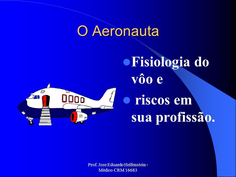 Prof. Jose Eduardo Helfenstein - Médico CRM 16683 O Aeronauta Fisiologia do vôo e riscos em sua profissão.