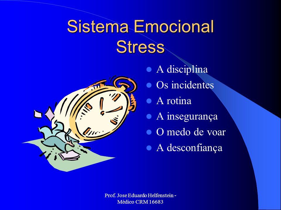 Prof. Jose Eduardo Helfenstein - Médico CRM 16683 Sistema Emocional Stress A disciplina Os incidentes A rotina A insegurança O medo de voar A desconfi