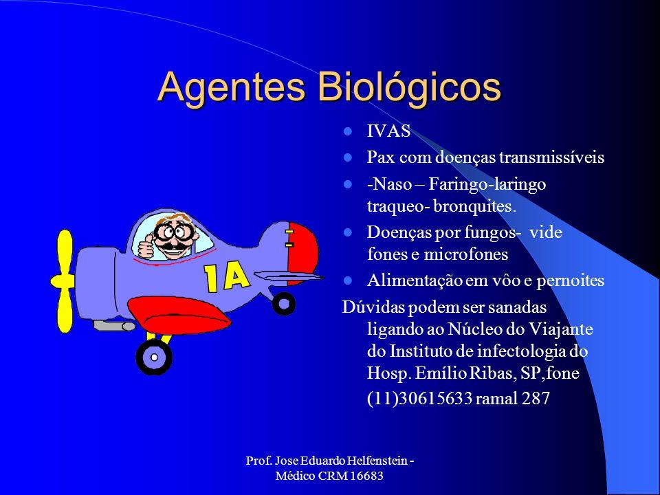 Prof. Jose Eduardo Helfenstein - Médico CRM 16683 Agentes Biológicos IVAS Pax com doenças transmissíveis -Naso – Faringo-laringo traqueo- bronquites.