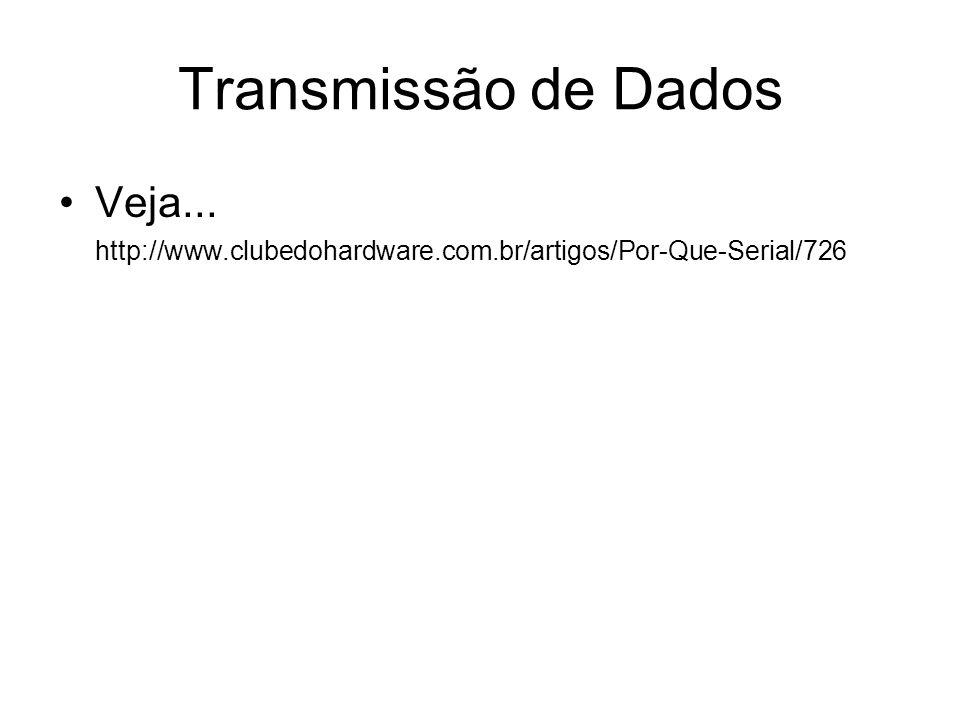 Transmissão de Dados Veja... http://www.clubedohardware.com.br/artigos/Por-Que-Serial/726