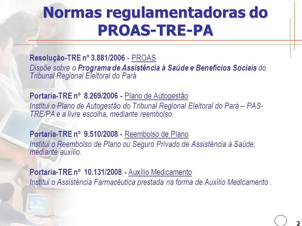3 Assistência à saúde Qual a finalidade do PROAS .