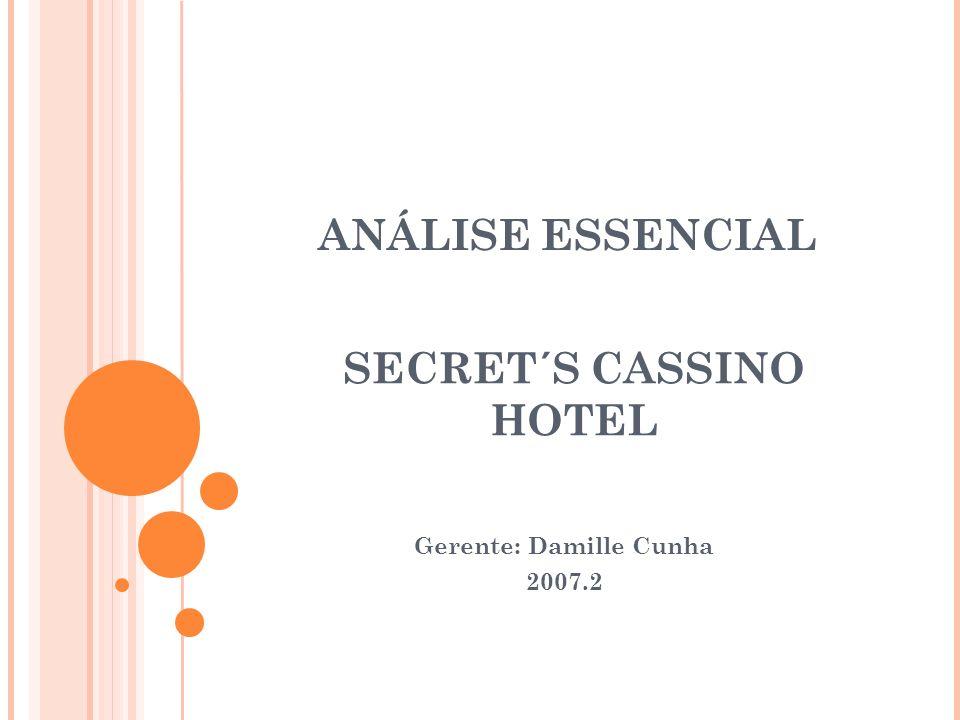 ANÁLISE ESSENCIAL Gerente: Damille Cunha 2007.2 SECRET´S CASSINO HOTEL