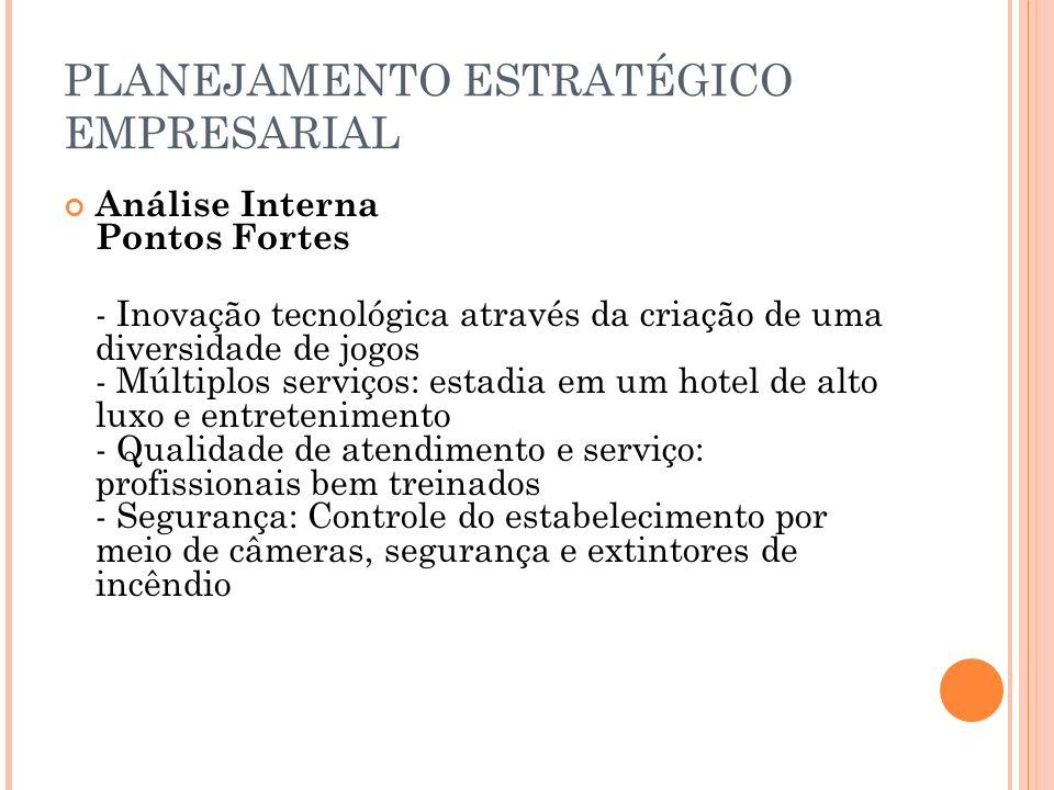 PLANEJAMENTO ESTRATÉGICO DA TECNOLOGIA DA INFORMAÇÃO SETOR DE JOGOS X SETOR FINANCEIRO SETOR ADMINISTRATIVO X CONTAS A PAGAR / RECEBER SERVIÇOS X TECNOLOGIA 2.10 Analisar estrutura organizacional