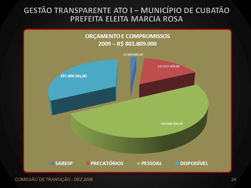 COMISSÃO DE TRANSIÇÃO - DEZ 2008 24