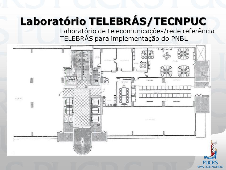 Laboratório TELEBRÁS/TECNPUC Laboratório de telecomunicações/rede referência TELEBRÁS para implementação do PNBL