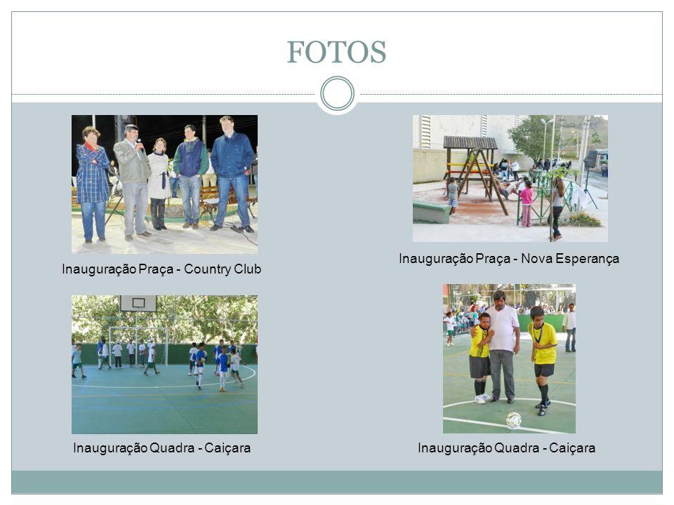 FOTOS Inauguração da Pça Claunedino - Cacaria Inauguração Pça da Matriz - Cacaria Desfile Cacaria Inauguração Ginásio - Fraternidade