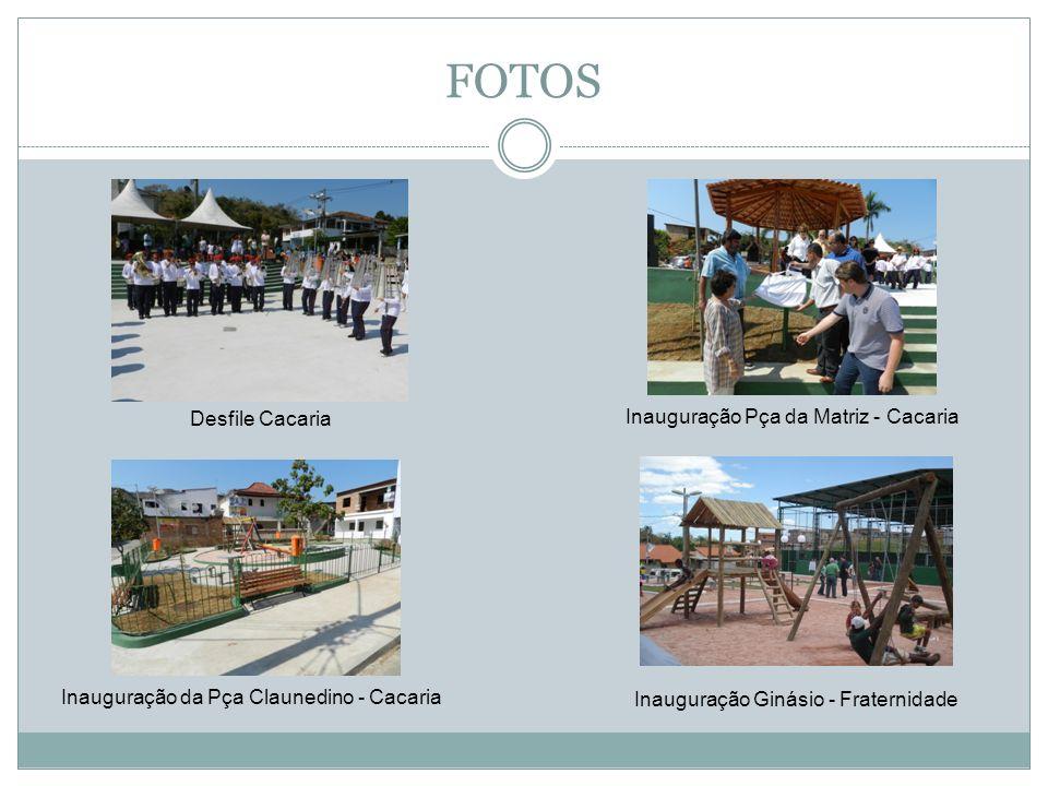 FOTOS Dragagem do Rio Caximbau Sala do Empreendendor Obras do Call Center Terraplenagem - Distrito Industrial