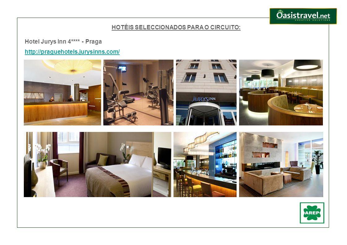 HOTÉIS SELECCIONADOS PARA O CIRCUITO: Hotel Jurys Inn 4**** - Praga http://praguehotels.jurysinns.com/