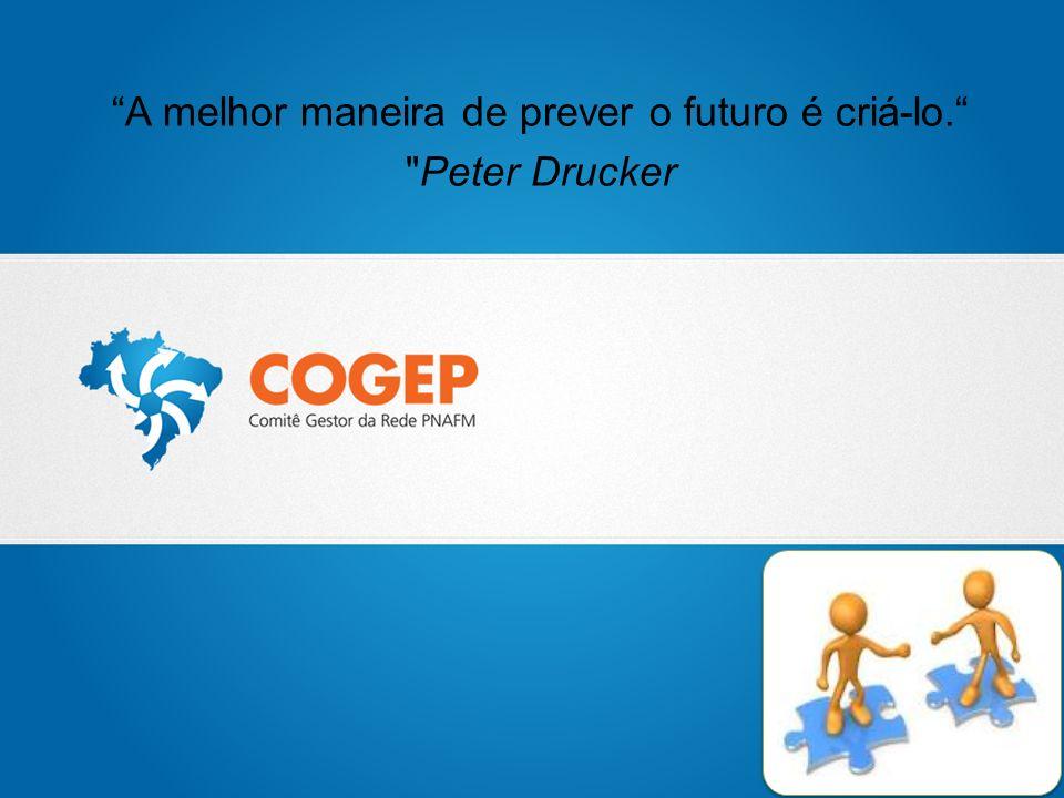A melhor maneira de prever o futuro é criá-lo. Peter Drucker