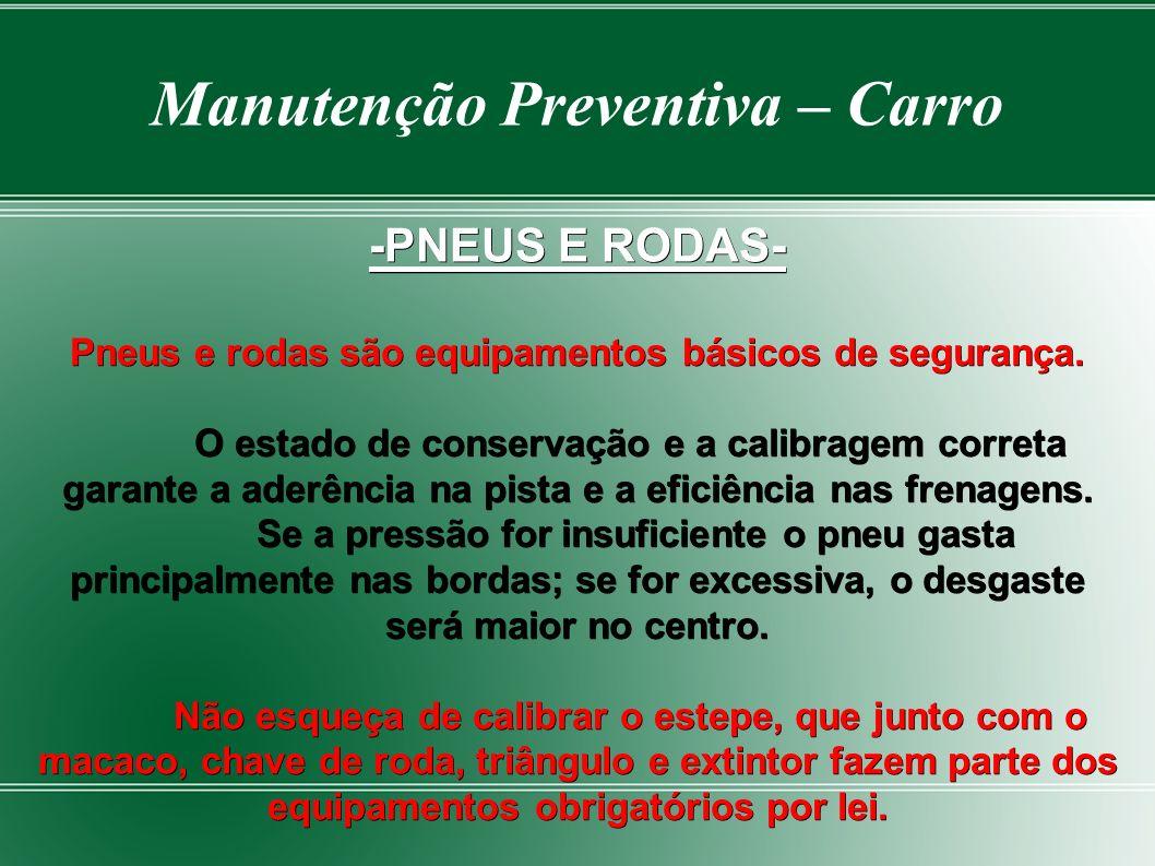 Hora de Substituir- Manutenção Preventiva – Carro - Hora de Substituir-