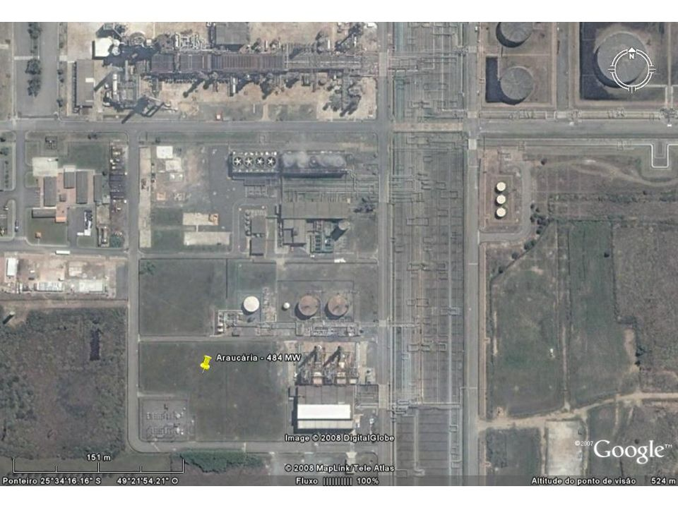 8.1.1 – Análise econômica de uma Central a Gás Natural Energia Química do Combustível Central Térmica Energia Elétrica Energia térmica Exemplo de balanço energético: Central de 100 MW (balanço anual) EE= 832.200 MWh/ano (indisponibilidade = 5,0%) EE= 100 MW x 8760 h/ano 1 MWh = 10 6 J/s x 3.600 s = 3,6 10 9 J EQC = 1,66 10 6 x 3,6 10 9 J (térmico)/ano EQC = 5,99 x 10 9 MJ (térmico)/ano Para eficiência = 50% => EQC = 832.200/0,50 MWh/ano EQC = 1.664.400 MWh(térmico)/ano EQC = 5,99 x 10 15 J (térmico)/ano QC 357 ton / dia QC 170 milhões Nm 3 / ano PCI = 46,5 MJ/kg => Gás Natural QC = 128.817.204 kg/ano QC 10.735 ton /mês QC 357 ton / dia QC 170 milhões Nm 3 / ano
