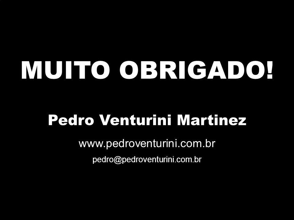 MUITO OBRIGADO! Pedro Venturini Martinez www.pedroventurini.com.br pedro@pedroventurini.com.br