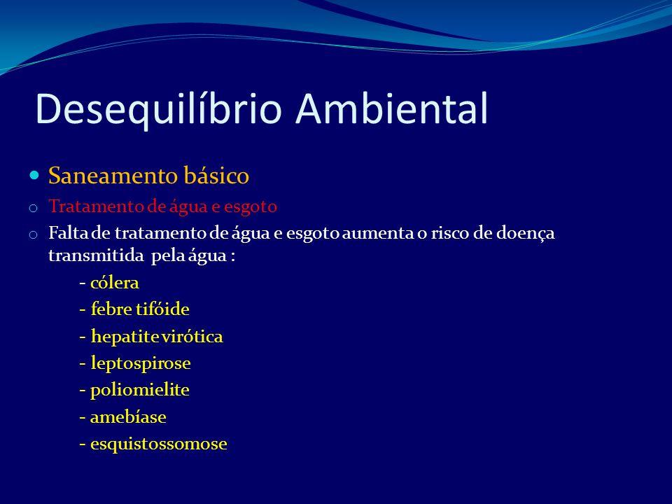 Desequilíbrio Ambiental o Medidas de positivas: - tratamento dos esgotos domésticos e industriais - destinar os lixos a locais apropriados ( lixões)