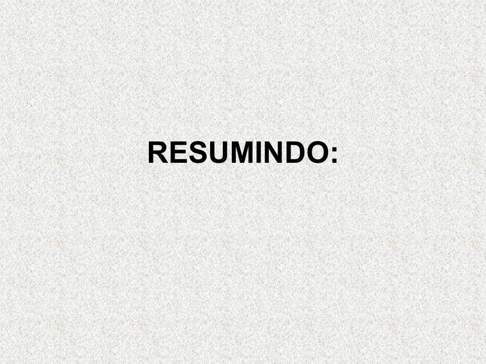 RESUMINDO: