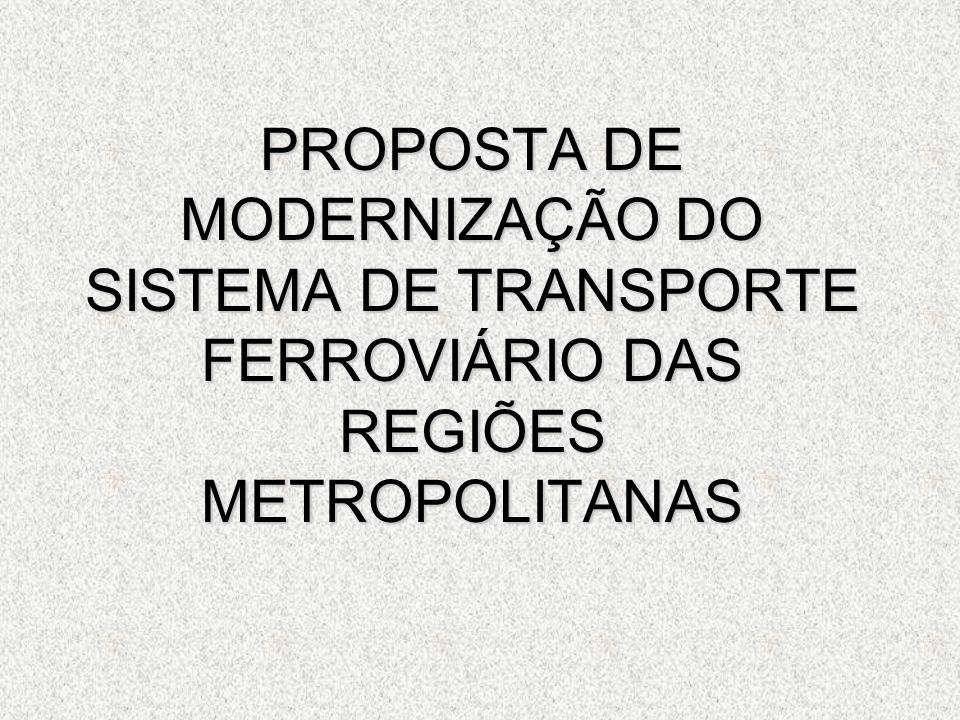 PROPOSTA DE MODERNIZAÇÃO DO SISTEMA DE TRANSPORTE FERROVIÁRIO DAS REGIÕES METROPOLITANAS