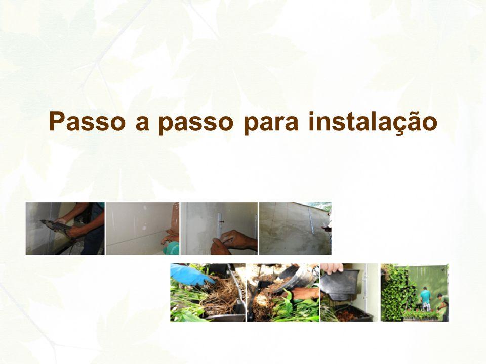 1) Fixação dos módulos na parede: a.