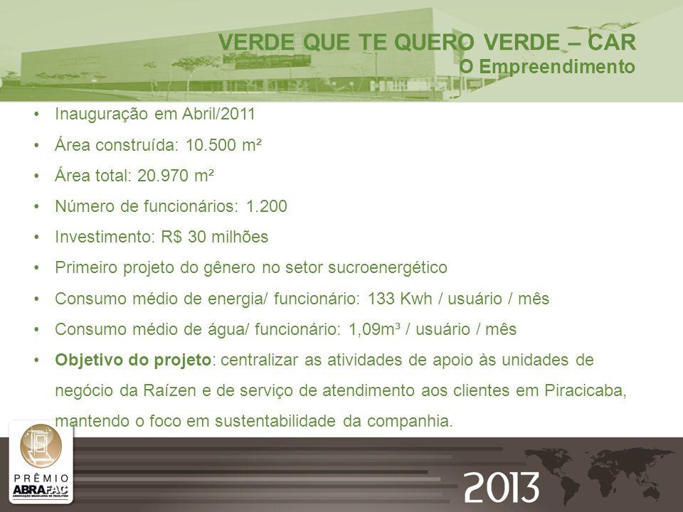 Inauguração em Abril/2011 Área construída: 10.500 m² Área total: 20.970 m² Número de funcionários: 1.200 Investimento: R$ 30 milhões Primeiro projeto