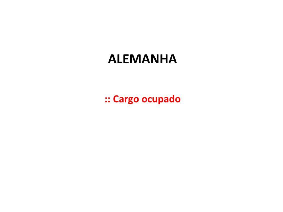 ALEMANHA :: Cargo ocupado