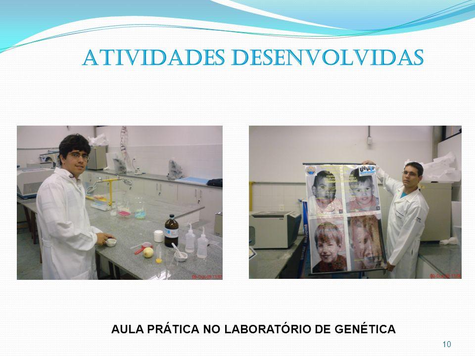 10 ATIVIDADES DESENVOLVIDAS AULA PRÁTICA NO LABORATÓRIO DE GENÉTICA