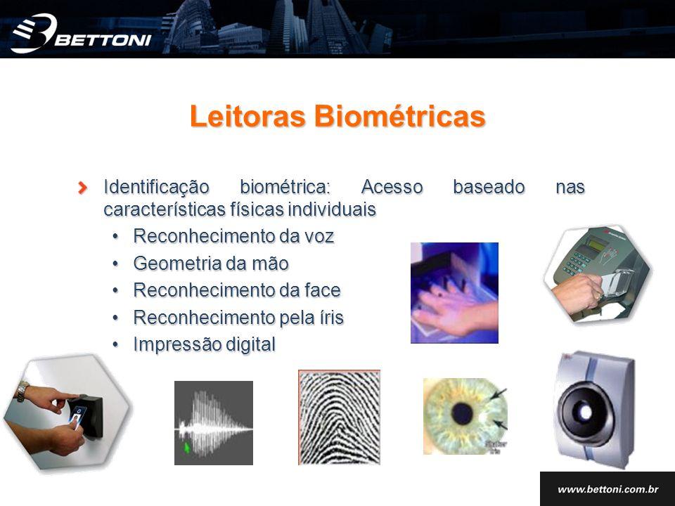 Identificação biométrica: Acesso baseado nas características físicas individuais Reconhecimento da vozReconhecimento da voz Geometria da mãoGeometria