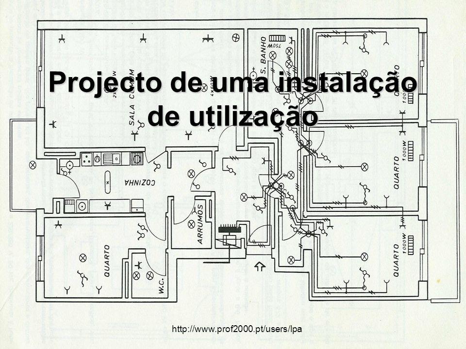 Projecto de uma instalação de utilização http://www.prof2000.pt/users/lpa
