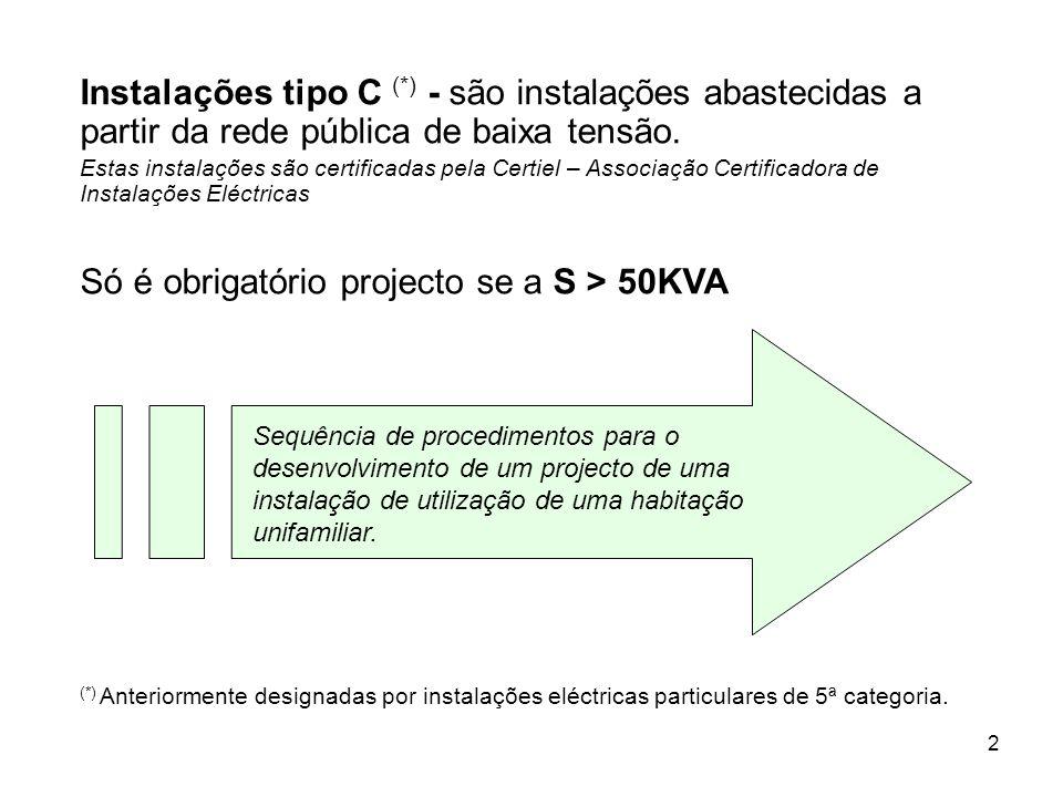 2 Instalações tipo C (*) - são instalações abastecidas a partir da rede pública de baixa tensão.