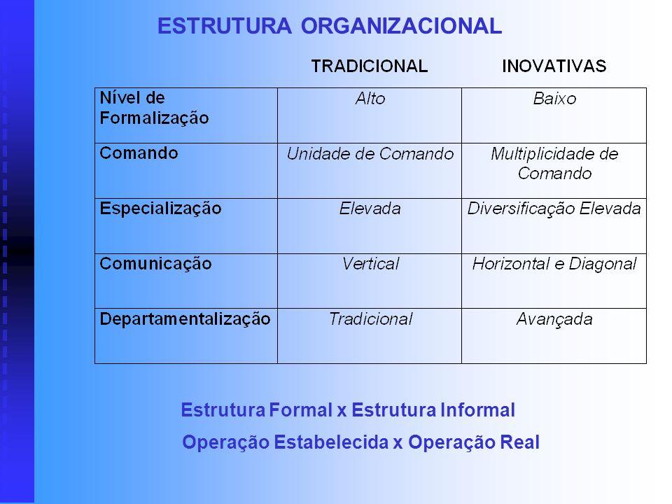 Subsistema de Autoridade Subsistema de Comunicação Subsistema de Atividades A estrutura de uma organização pode ser definida como o resultado de um pr