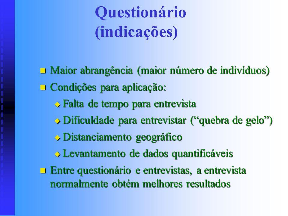 LEVANTAMENTO DE INFORMAÇÕES Todo estudo deve ser baseado em informações Todo estudo deve ser baseado em informações Quarta etapa descrita anteriorment
