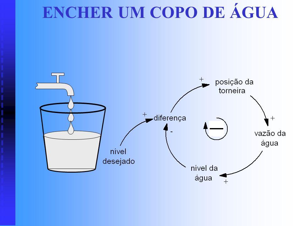 DIAGRAMA DE CICLOS CAUSAIS Diagrama representando ciclos fechados de relações de causa e efeito (ciclos causais), que exprime a maneira como as variáv