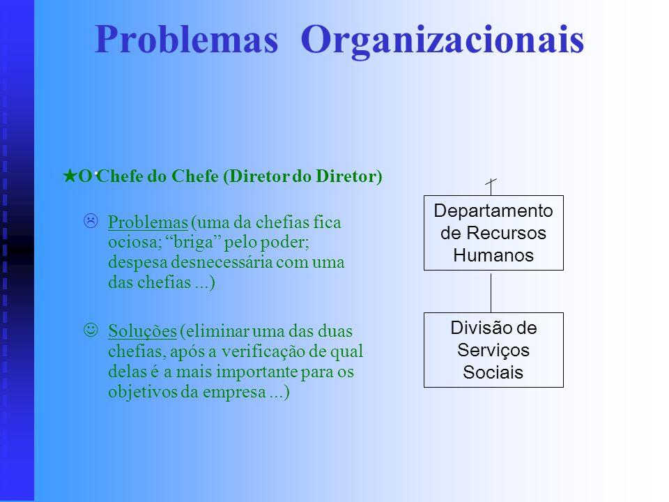 Insegurança Executiva ou Trincheira de Assessores Insegurança Executiva ou Trincheira de Assessores Problemas (alerta contra a incapacidade do Adminis