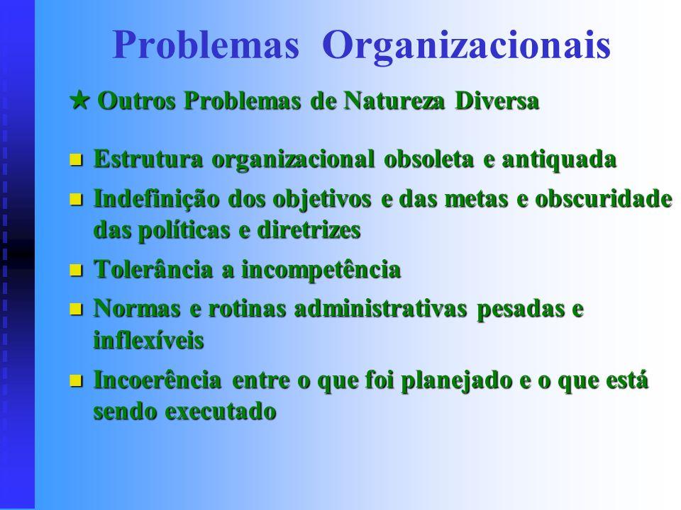 . O Chefe do Chefe (Diretor do Diretor) Problemas (uma da chefias fica ociosa; briga pelo poder; despesa desnecessária com uma das chefias...) Soluçõe