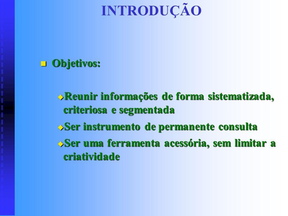 INTRODUÇÃO (...) todo e qualquer conjunto de normas, procedimentos, funções, atividades, políticas, objetivos, instruções e orientações que devem ser