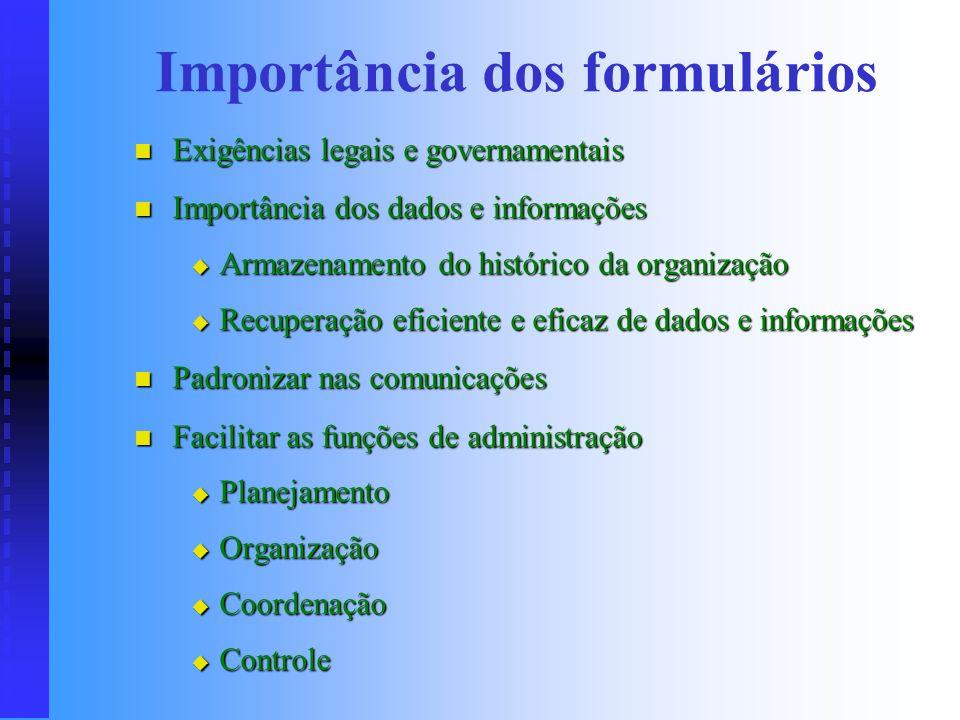 INTRODUÇÃO Documento que possui campos delineados para coleta e registro de dados e informações necessários a sistemas administrativos. Documento que