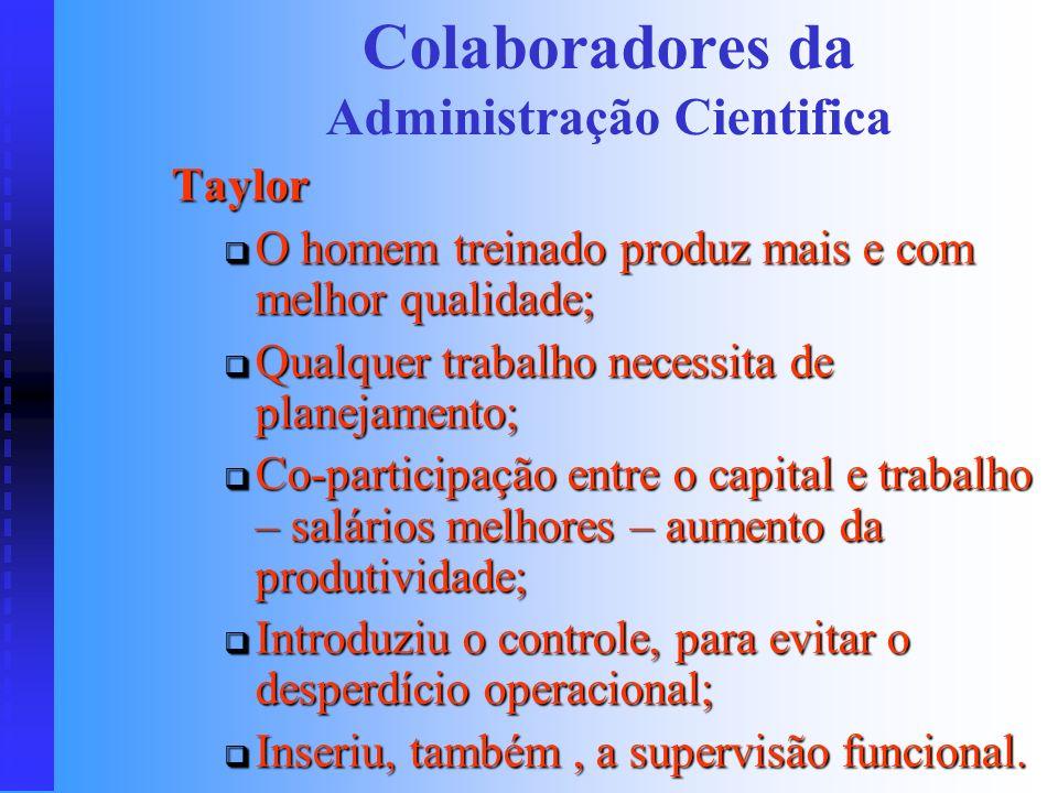 Fundamentos Básicos Reciclagem para o Estudo de OSM Colaboradores da Administração Cientifica Colaboradores da Administração Cientifica Funções Básica