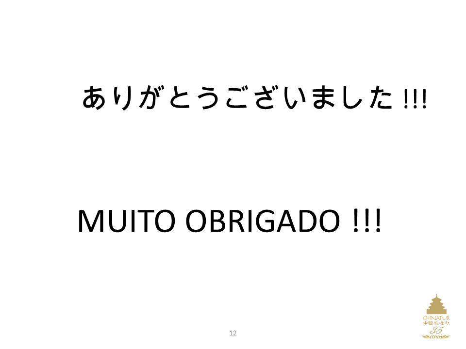 !!! MUITO OBRIGADO !!! 12