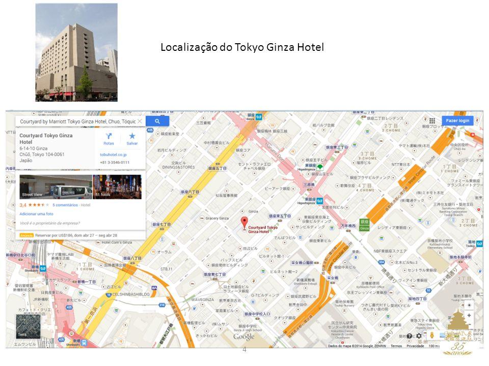 Localização do Tokyo Ginza Hotel 4