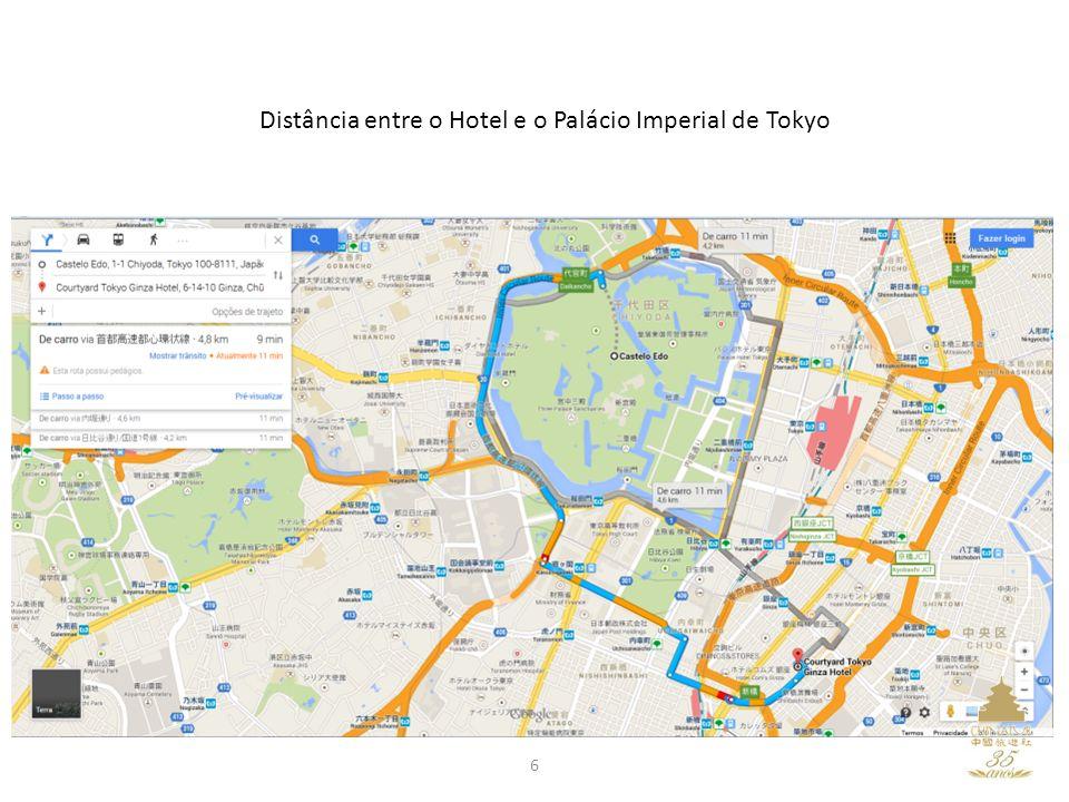 Distância entre o Hotel e o Palácio Imperial de Tokyo 6