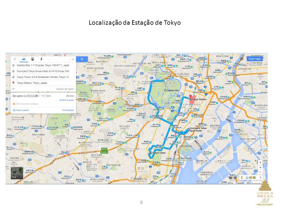 Localização da Estação de Tokyo 8