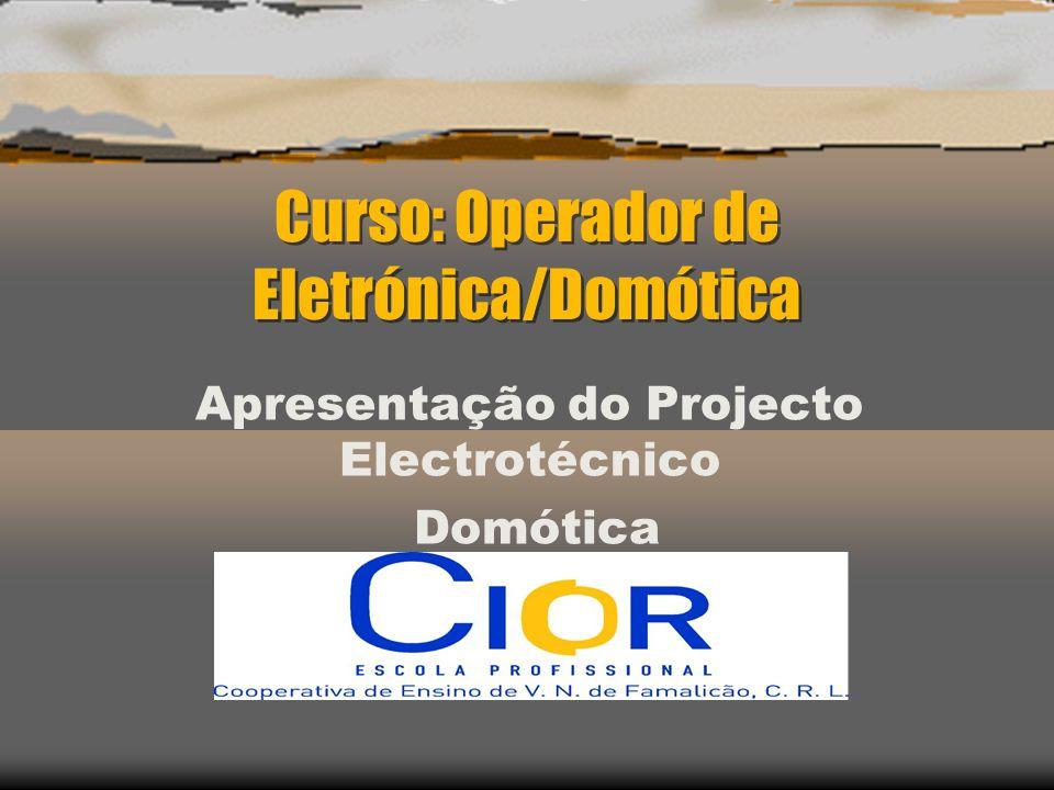 Curso: Operador de Eletrónica/Domótica Apresentação do Projecto Electrotécnico Domótica