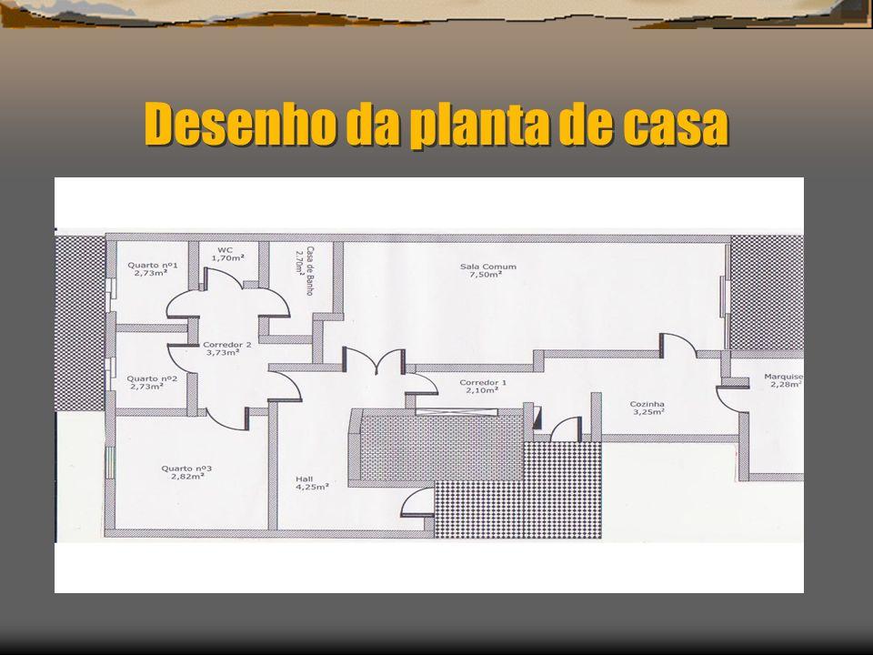 Desenho da planta de casa