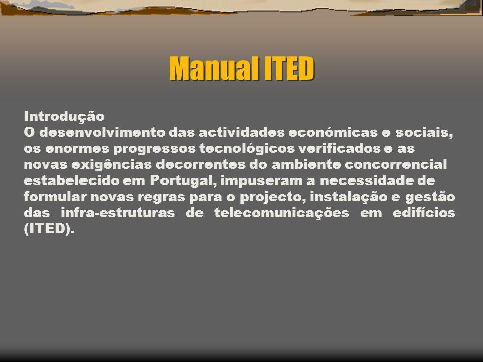 Manual ITED Introdução O desenvolvimento das actividades económicas e sociais, os enormes progressos tecnológicos verificados e as novas exigências de