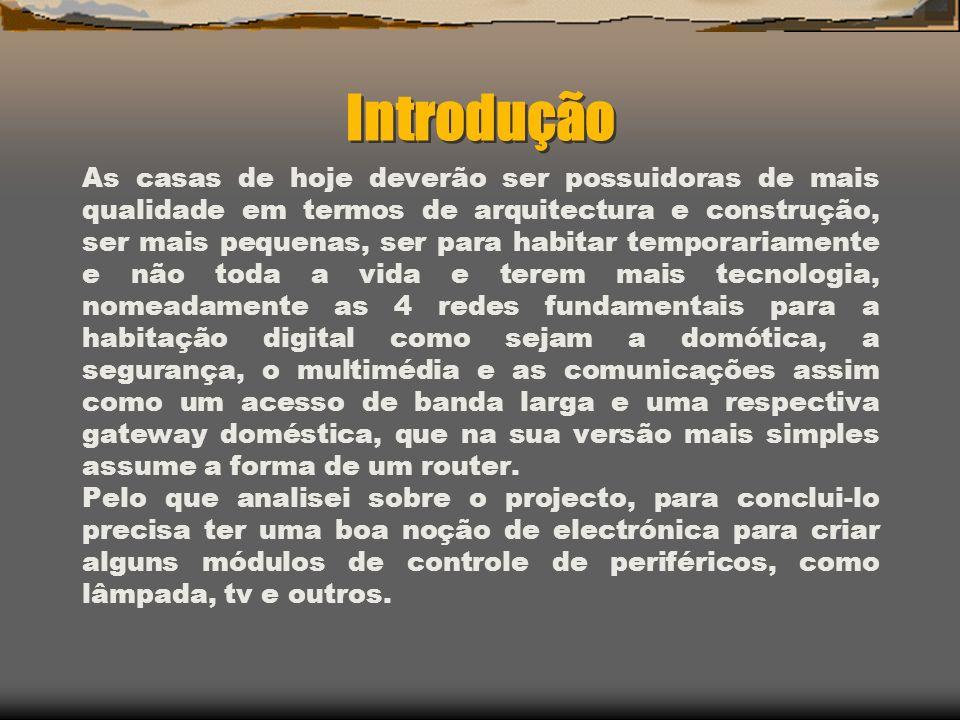Índice de Matérias: Tecnologia dos sistemas de domótica.
