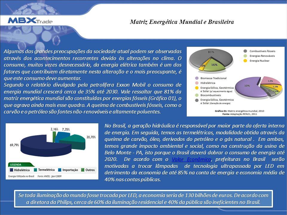 Matriz Energética Mundial e Brasileira Algumas das grandes preocupações da sociedade atual podem ser observadas através dos acontecimentos recorrentes