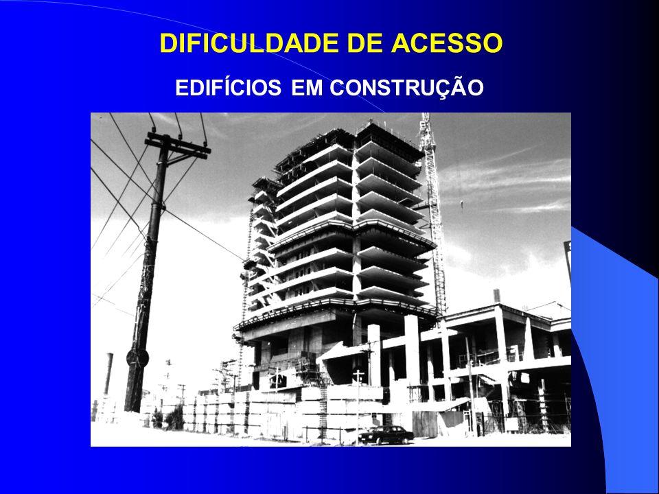 DIFICULDADE DE ACESSO VOLUMES RECUADOS – OPERAÇÕES COM ESCADAS DUPLAS