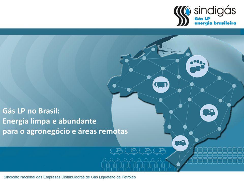 Agronegócio no Brasil Gás Terra O Gás LP é uma alternativa: -Inovadora, -Competitiva, -Eficiente, -Limpa, -Fácil manejo, etc.