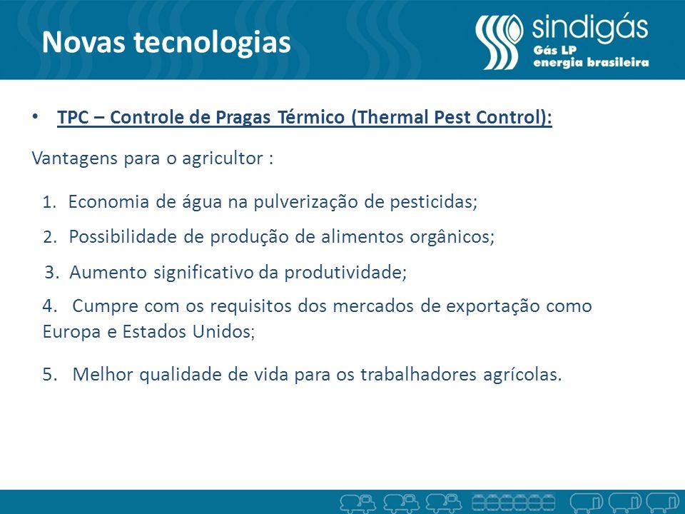 Novas tecnologias TPC – Controle de Pragas Térmico (Thermal Pest Control): Vantagens para o agricultor : 1.Economia de água na pulverização de pestici