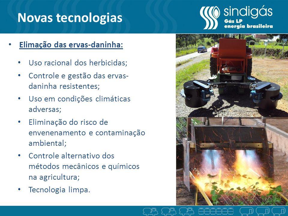 Novas tecnologias Elimação das ervas-daninha: Uso racional dos herbicidas; Controle e gestão das ervas- daninha resistentes; Uso em condições climátic