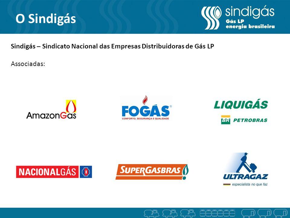O Sindigás Sindigás – Sindicato Nacional das Empresas Distribuidoras de Gás LP Associadas: